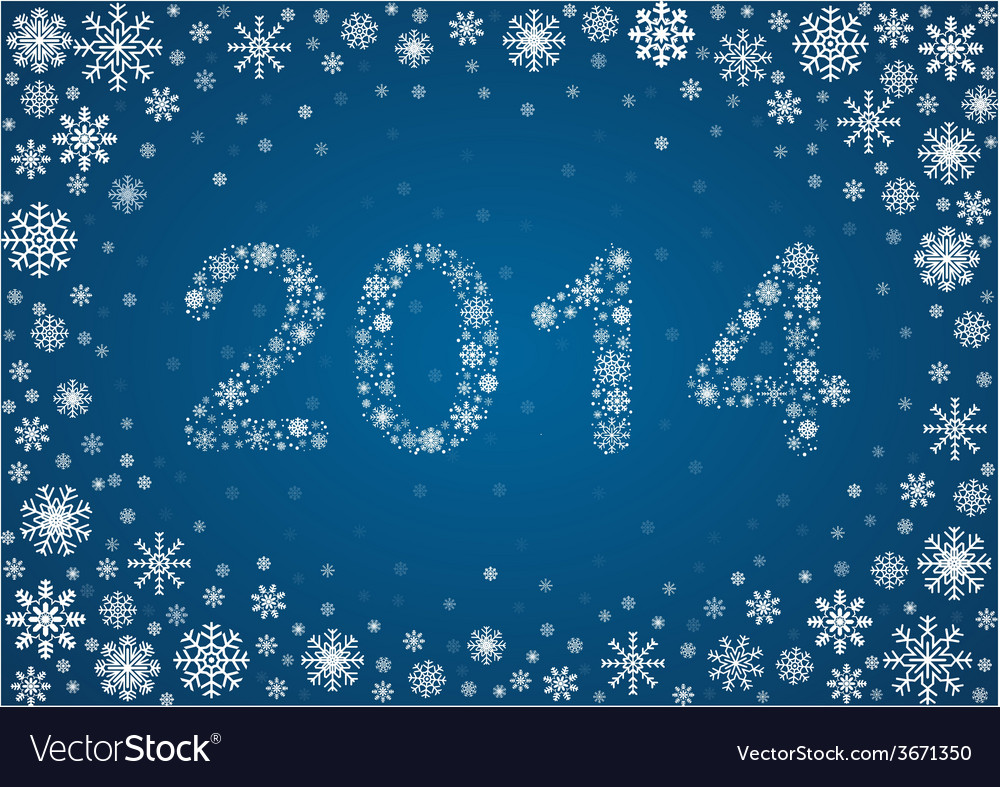 2014 title from snowflakes vector | Price: 1 Credit (USD $1)