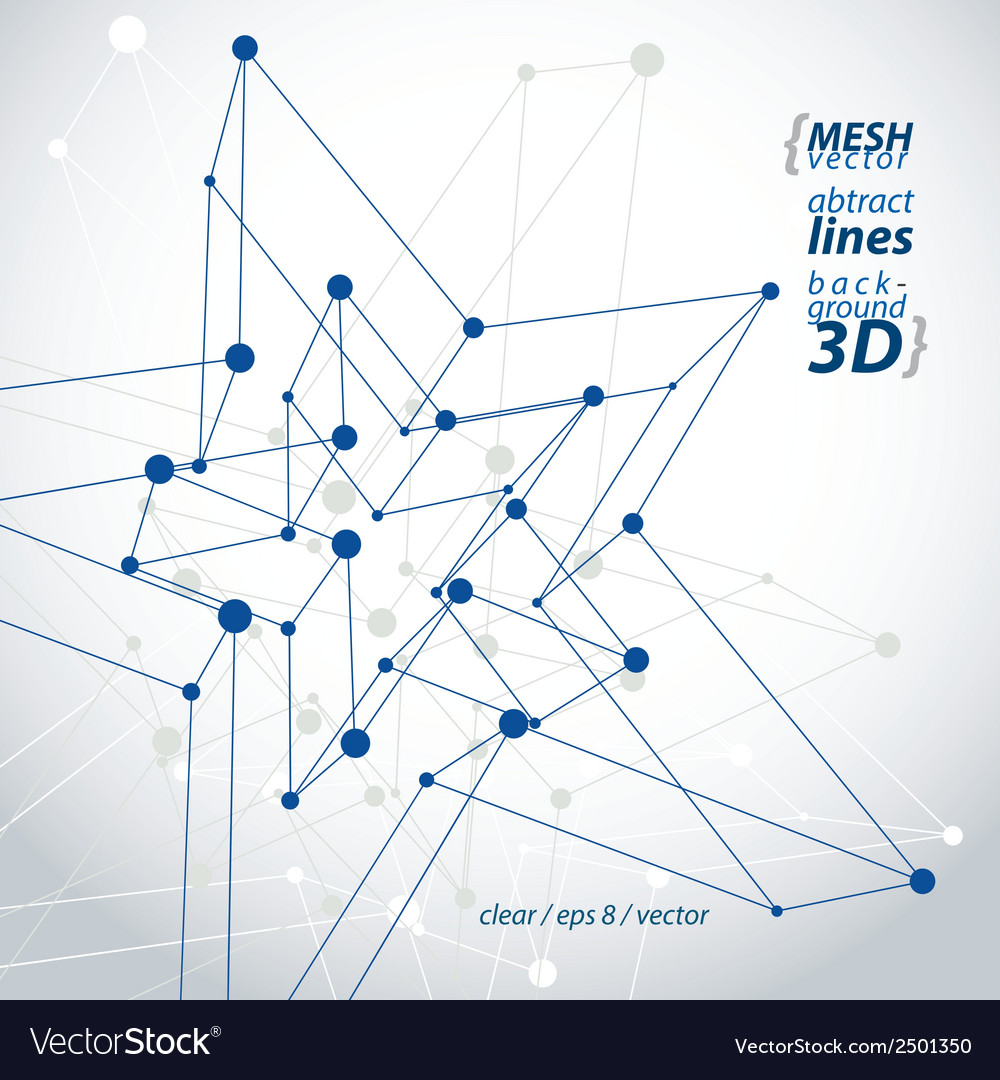 Dimensional tech polygonal construction figure vector | Price: 1 Credit (USD $1)