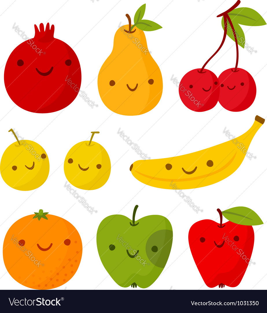 Funny fruits vector | Price: 1 Credit (USD $1)