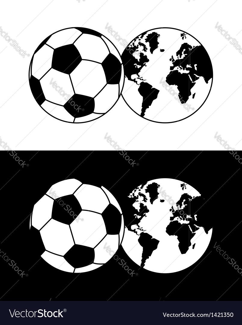 Globe and soccer ball composition vector | Price: 1 Credit (USD $1)