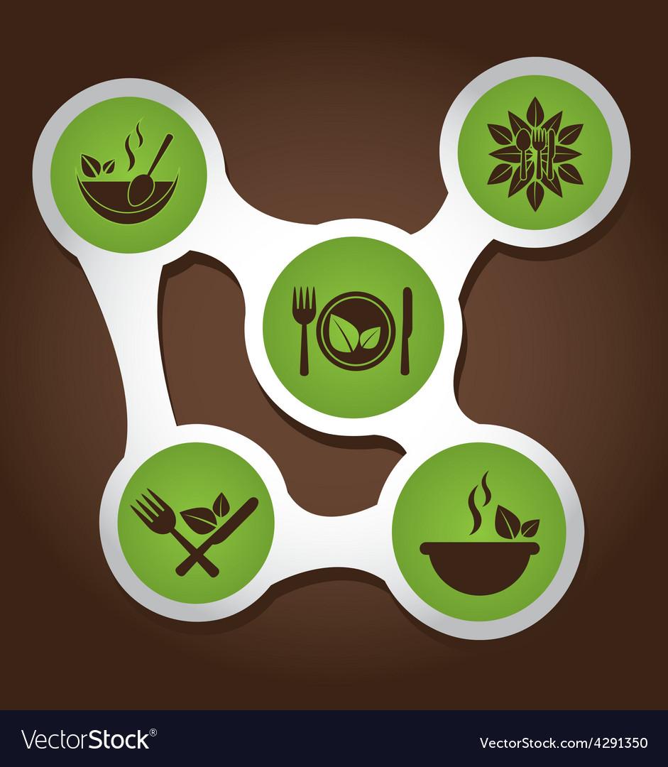 Healthy food infographics vector | Price: 1 Credit (USD $1)