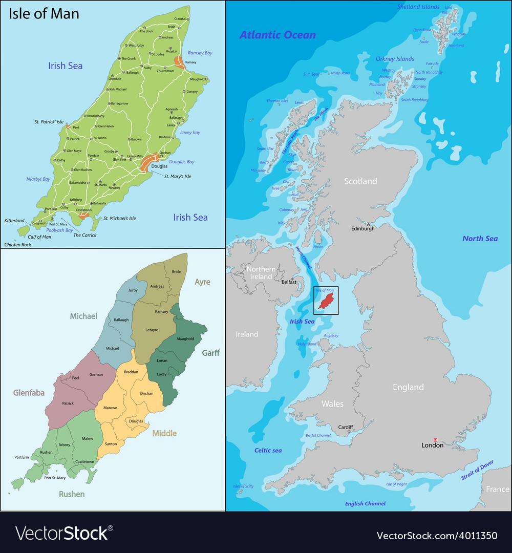 Isle of man vector | Price: 1 Credit (USD $1)