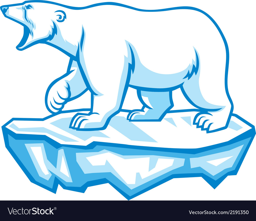Polar bear vector
