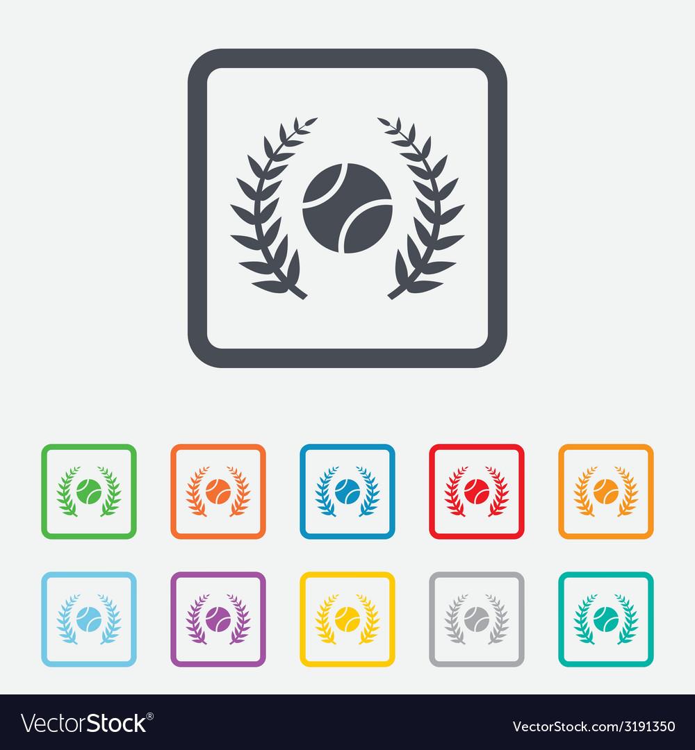 Tennis ball sign icon sport symbol vector | Price: 1 Credit (USD $1)