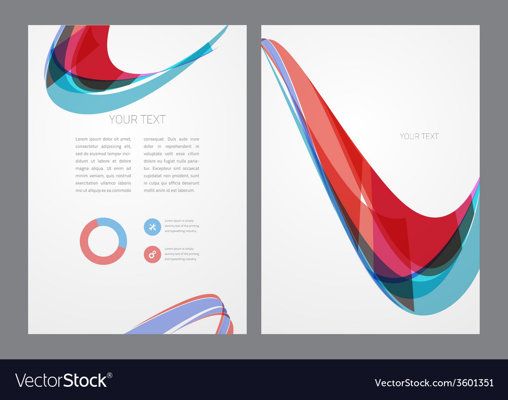 Abstract modern bright multicolored flyer vector | Price: 1 Credit (USD $1)