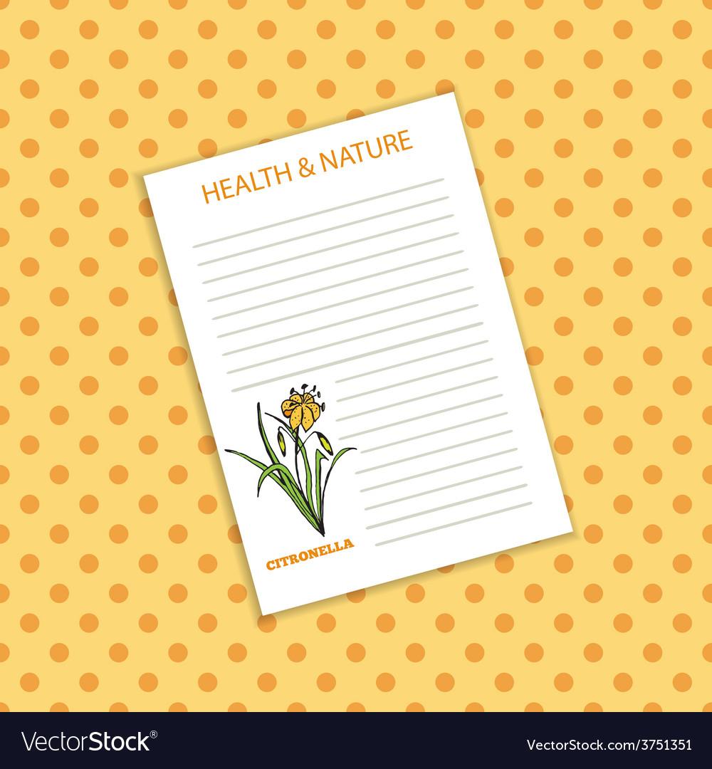 Health and nature collection citronella vector | Price: 1 Credit (USD $1)