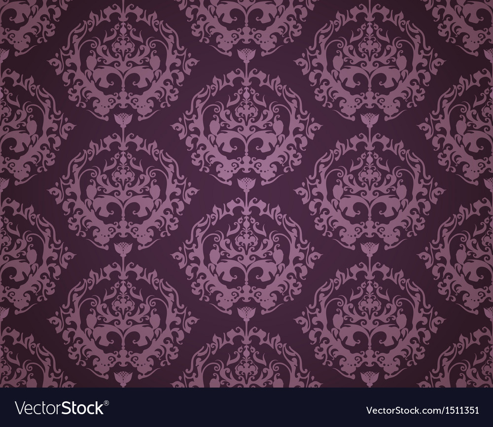 Seamless wallpaper pattern dark vector | Price: 1 Credit (USD $1)