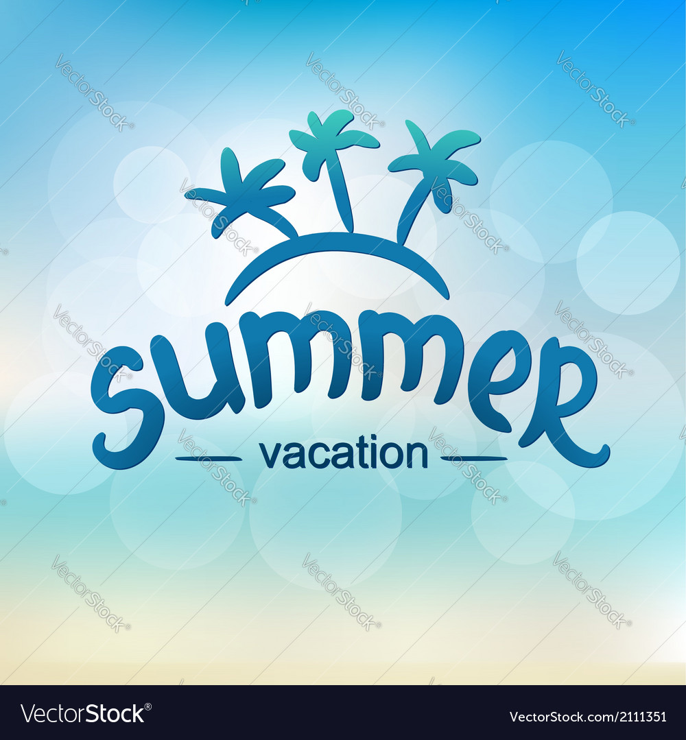 Summer vacation - typographic design vector | Price: 1 Credit (USD $1)
