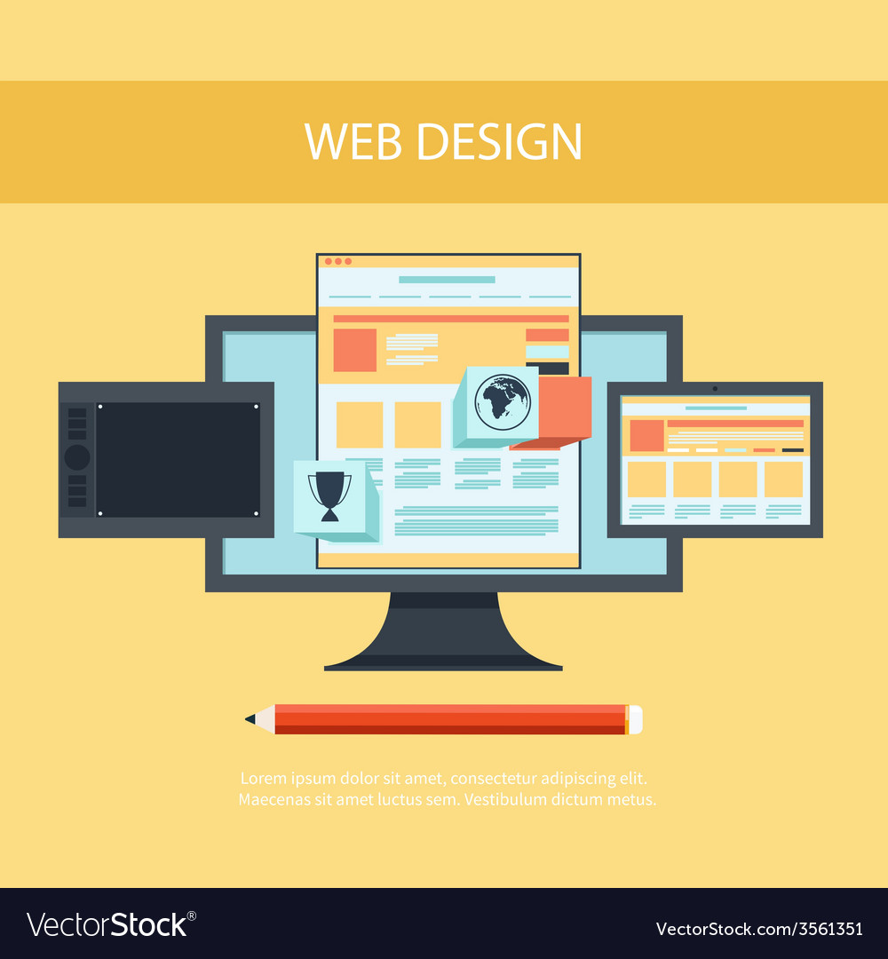 Web design program for design and architecture vector | Price: 1 Credit (USD $1)