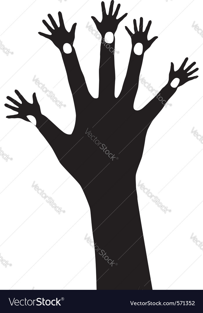 Abstract hand tree vector | Price: 1 Credit (USD $1)