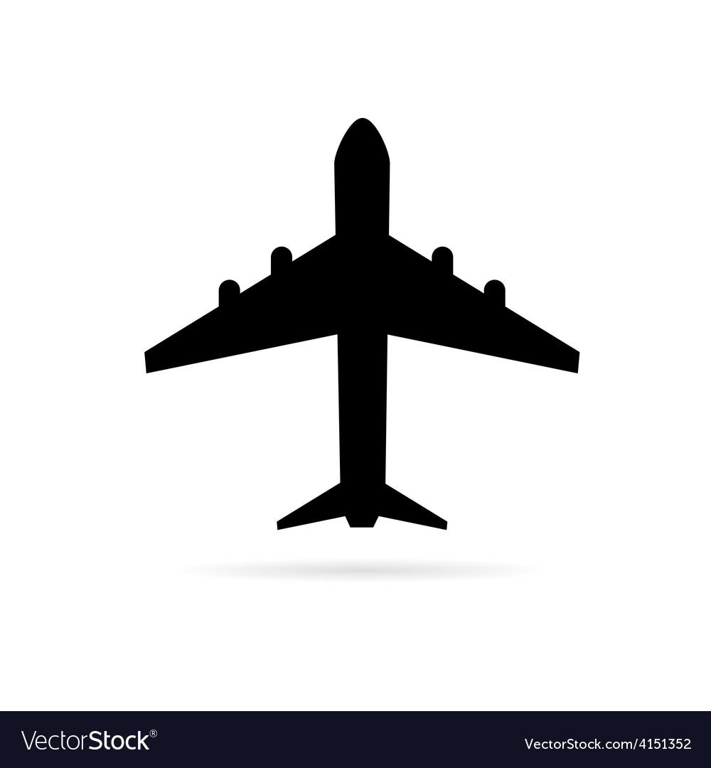 Airplane black vector | Price: 1 Credit (USD $1)