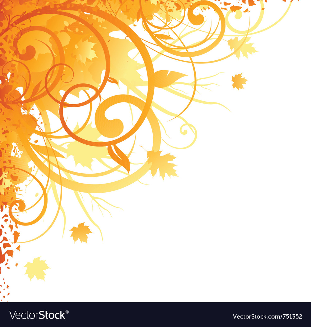 Autumn floral ornament vector | Price: 1 Credit (USD $1)