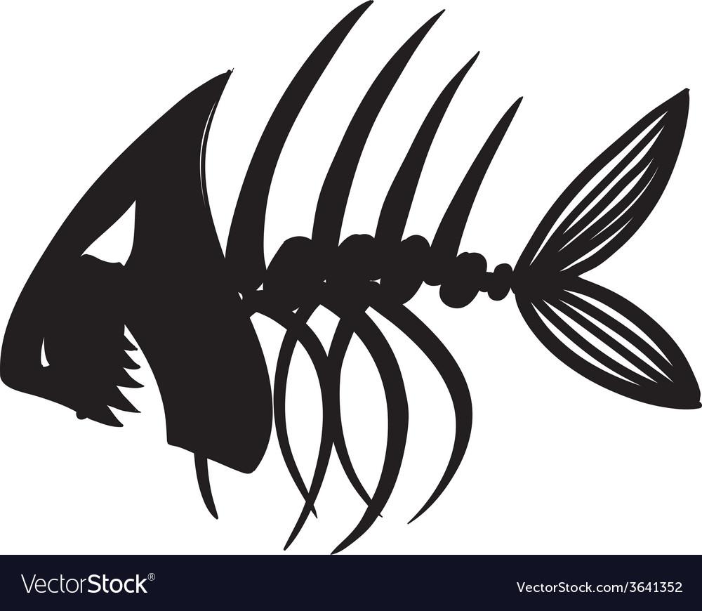 Evil fish skeleton vector | Price: 1 Credit (USD $1)
