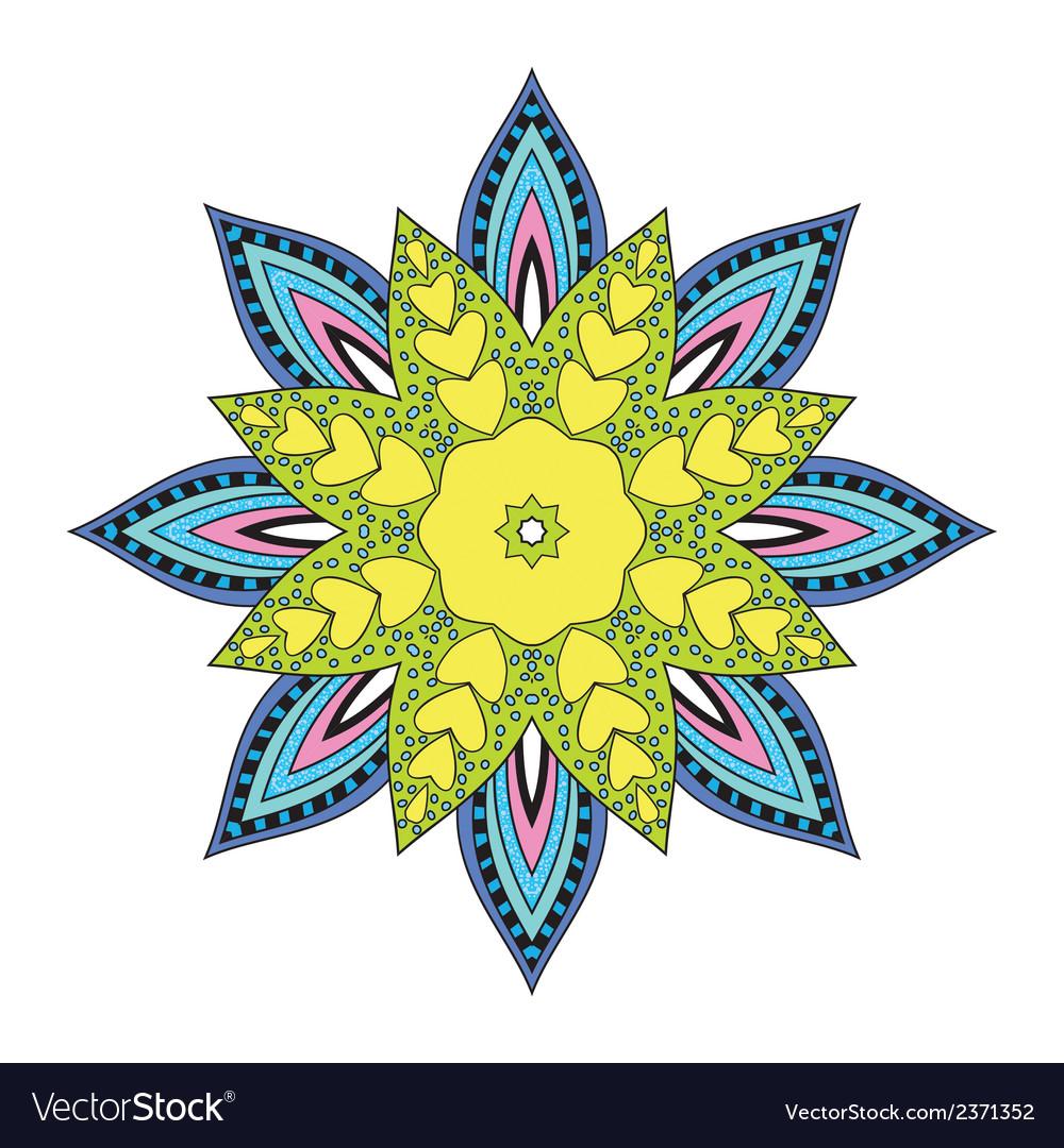 Flower mandala vector | Price: 1 Credit (USD $1)