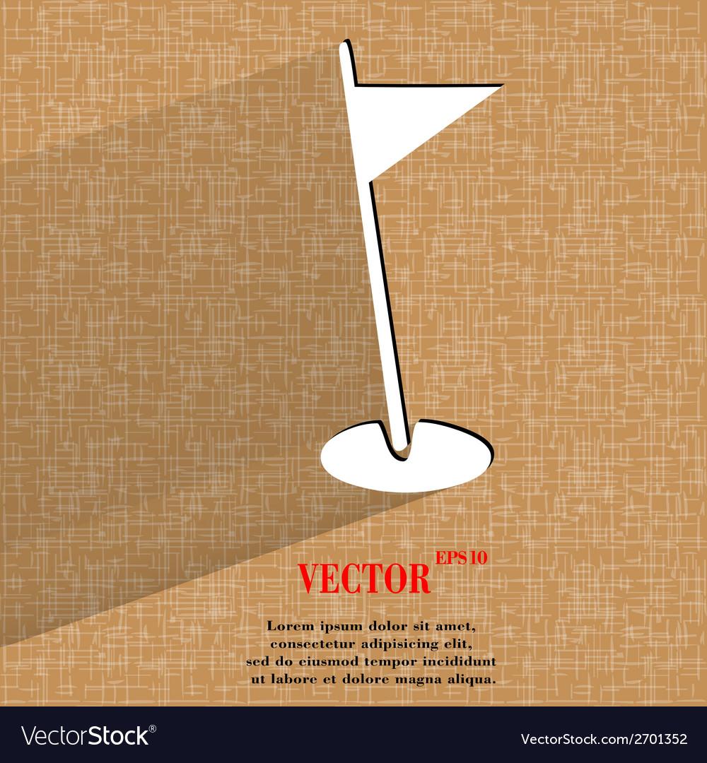 Golf flag flat modern web design on a flat vector | Price: 1 Credit (USD $1)