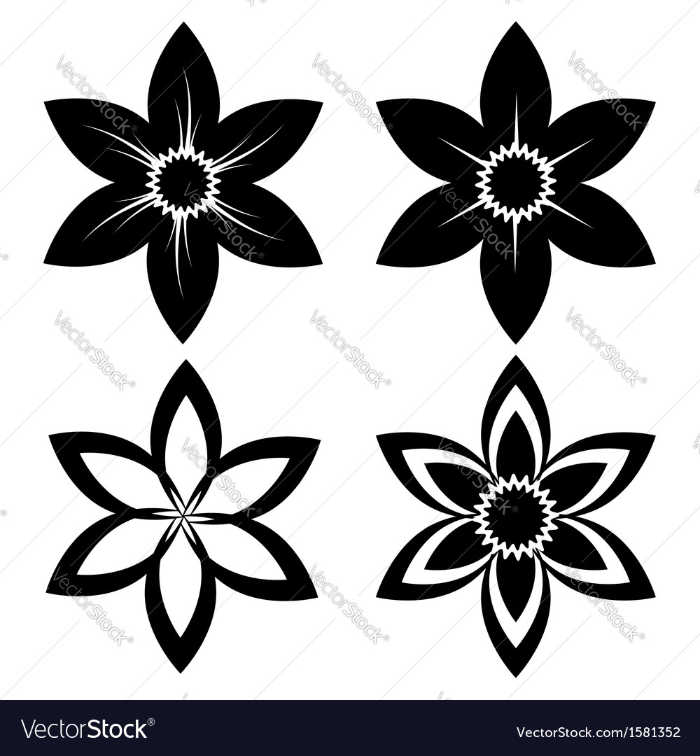 Narcissus silhouette vector | Price: 1 Credit (USD $1)