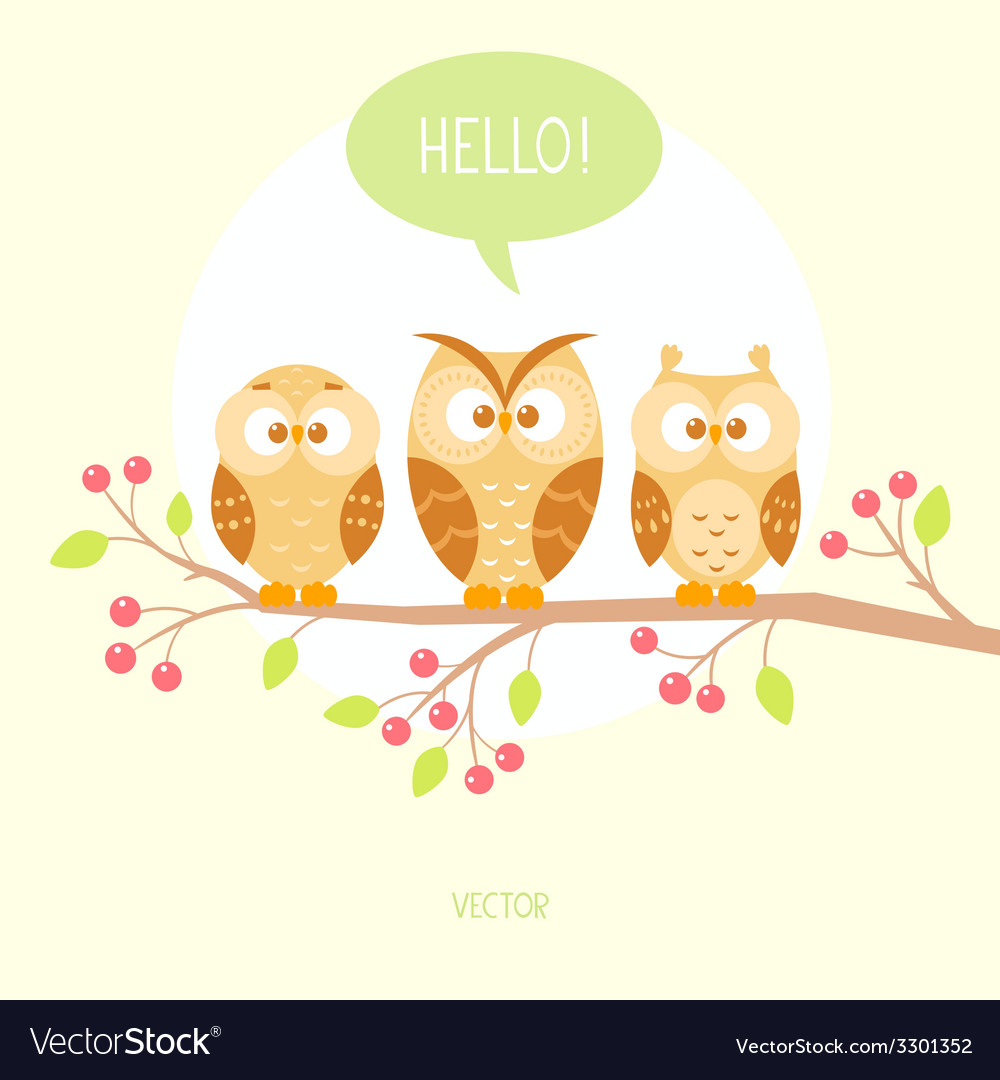 Owls three vector | Price: 1 Credit (USD $1)