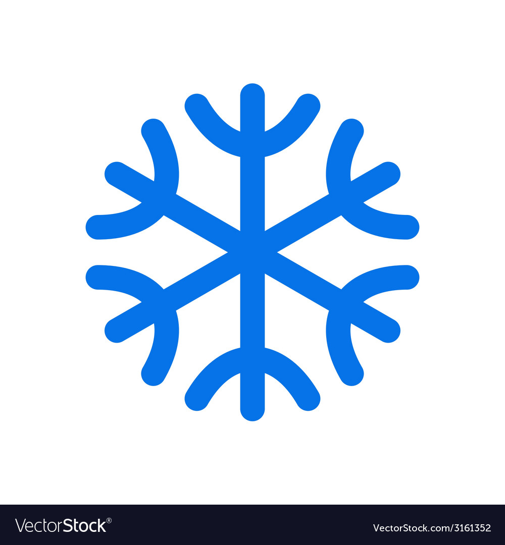 Snowflake icon vector | Price: 1 Credit (USD $1)