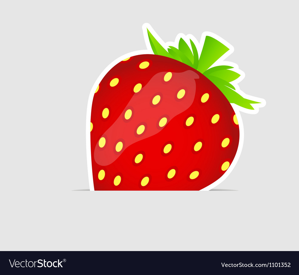 Sweet tasty strawberry vector | Price: 1 Credit (USD $1)