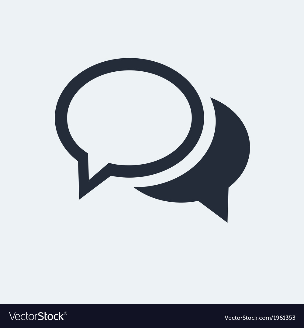 Chat flat icon vector | Price: 1 Credit (USD $1)