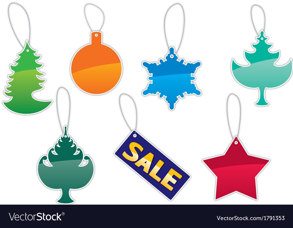 Christmas labels set vector | Price: 1 Credit (USD $1)