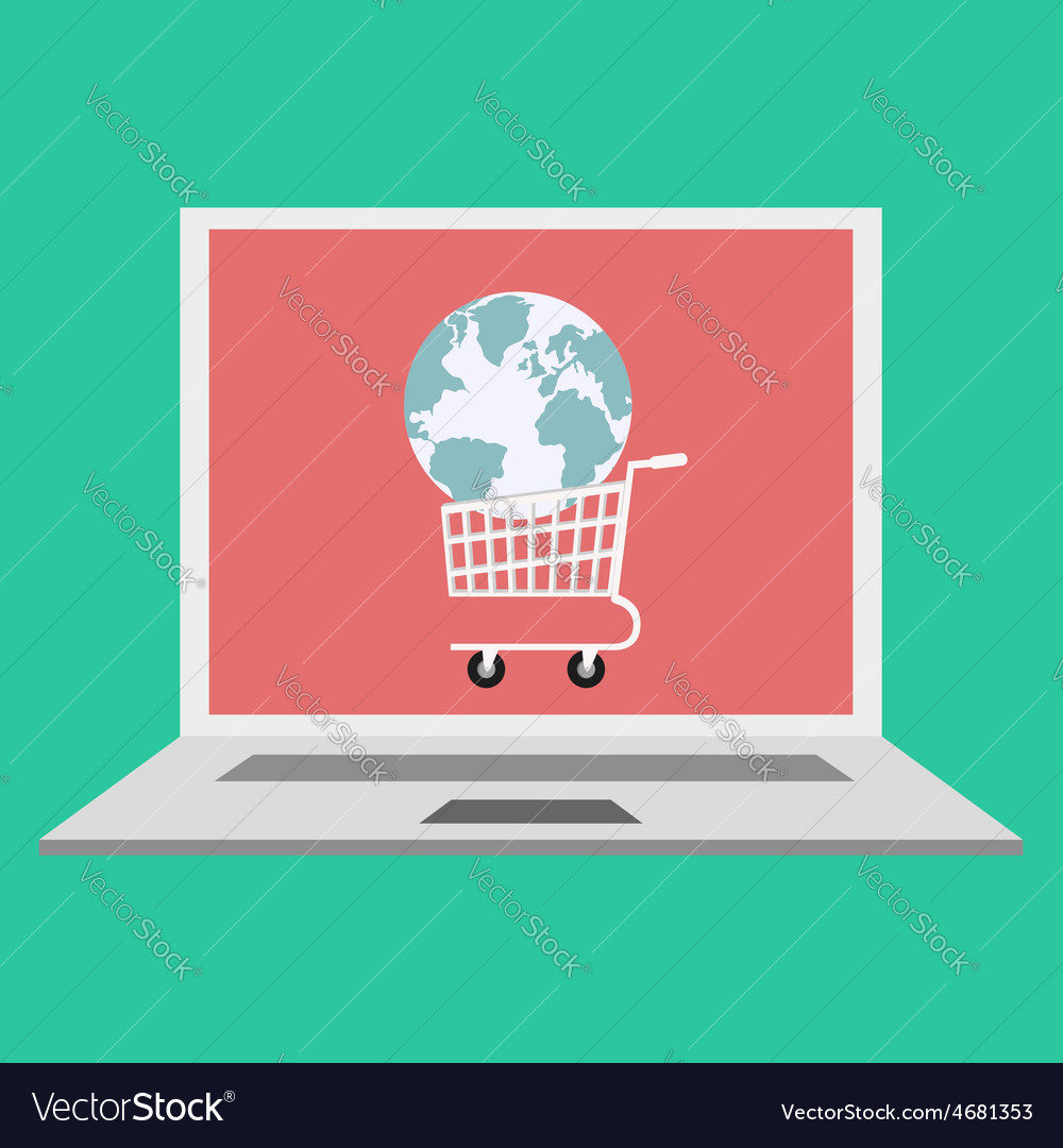 Global online shopping concept vector | Price: 1 Credit (USD $1)
