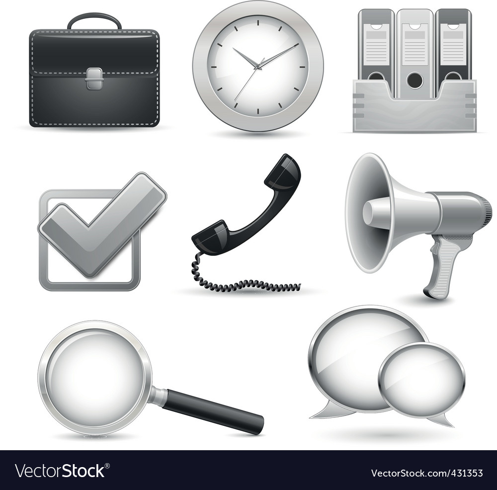 Icons for business web site vector | Price: 1 Credit (USD $1)