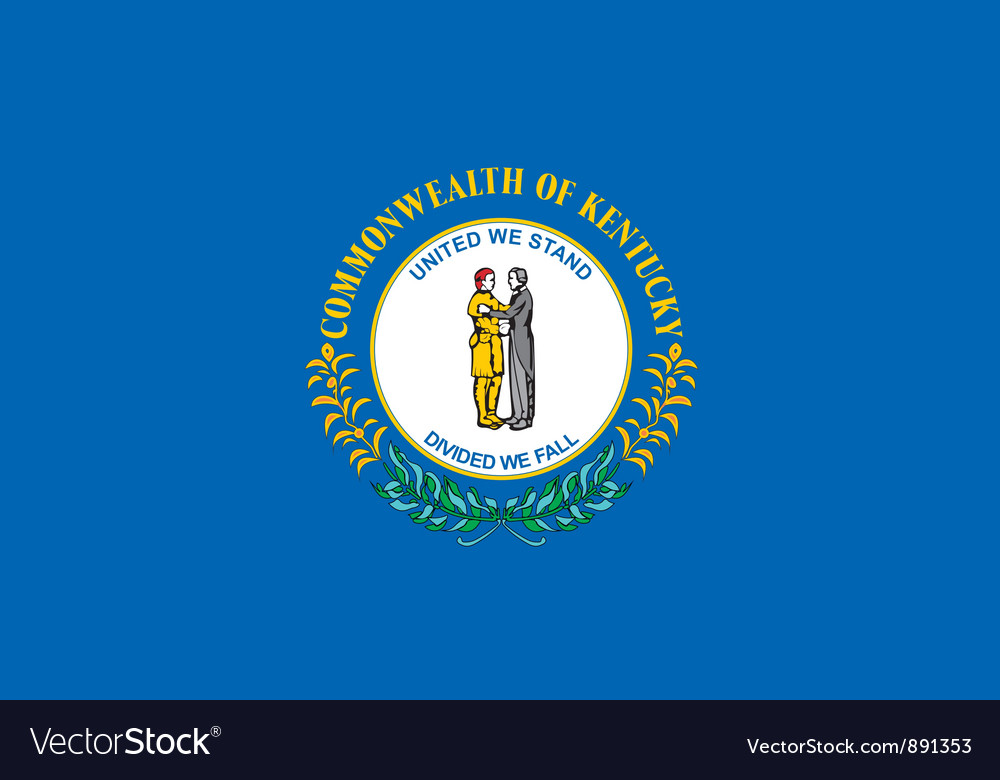 Kentucky flag vector | Price: 1 Credit (USD $1)
