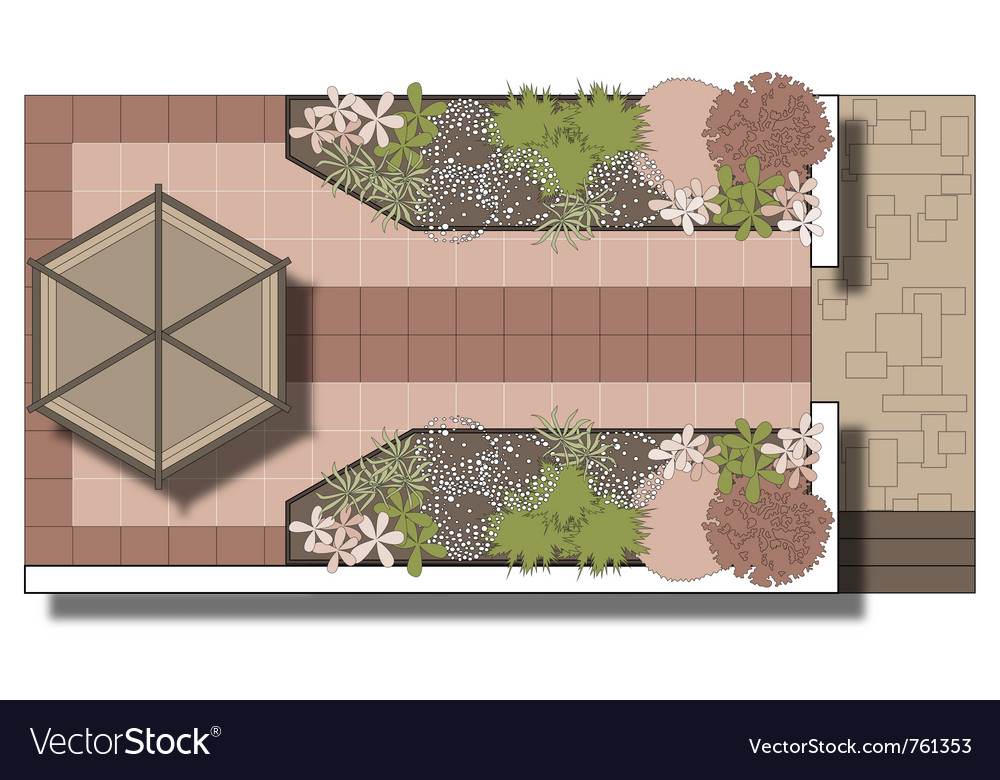 Landscaping patio area vector | Price: 1 Credit (USD $1)