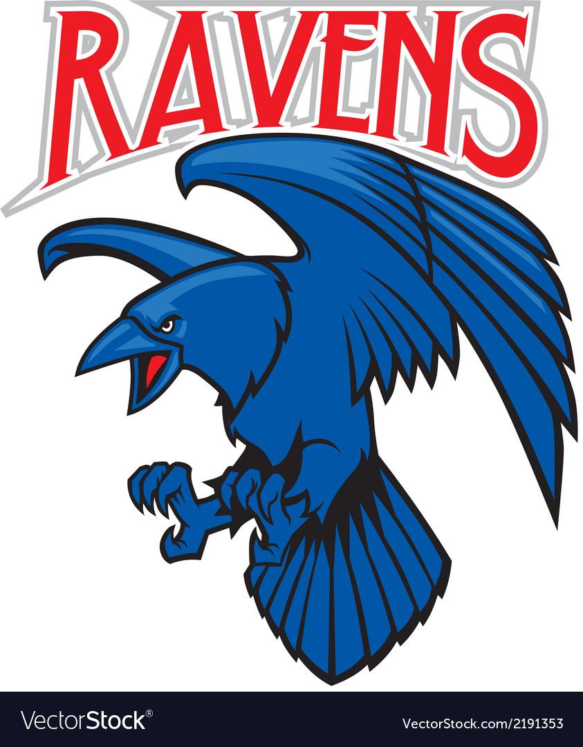 Raven mascot vector   Price: 1 Credit (USD $1)