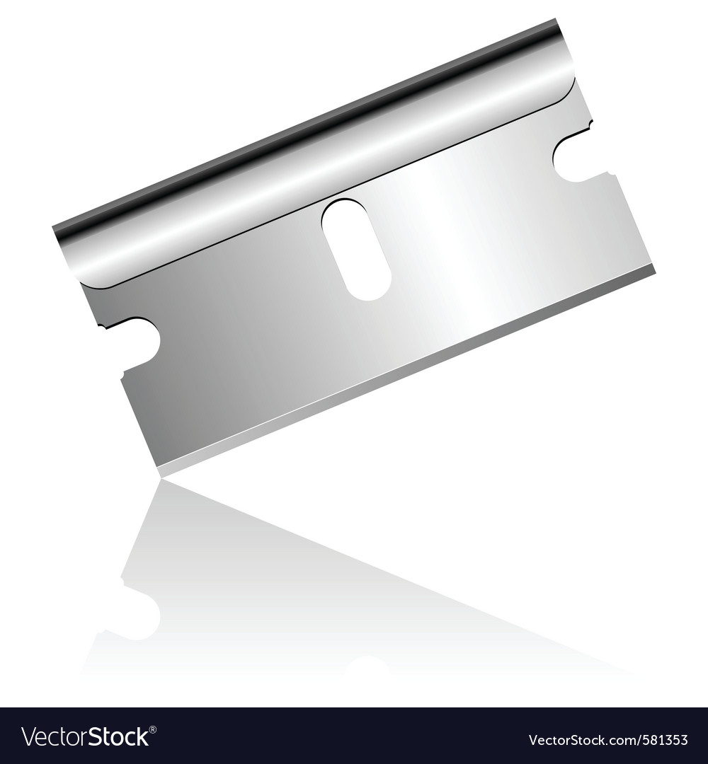 Razor blade vector | Price: 1 Credit (USD $1)