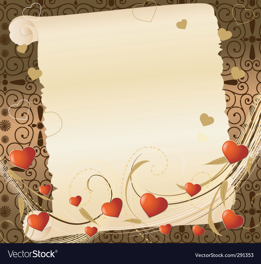 Romantic letter vector | Price: 1 Credit (USD $1)