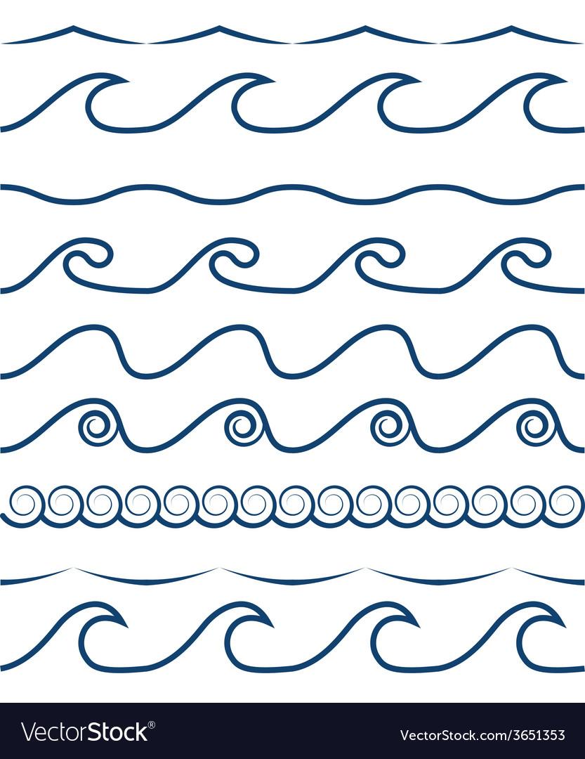 Sea waves vector   Price: 1 Credit (USD $1)