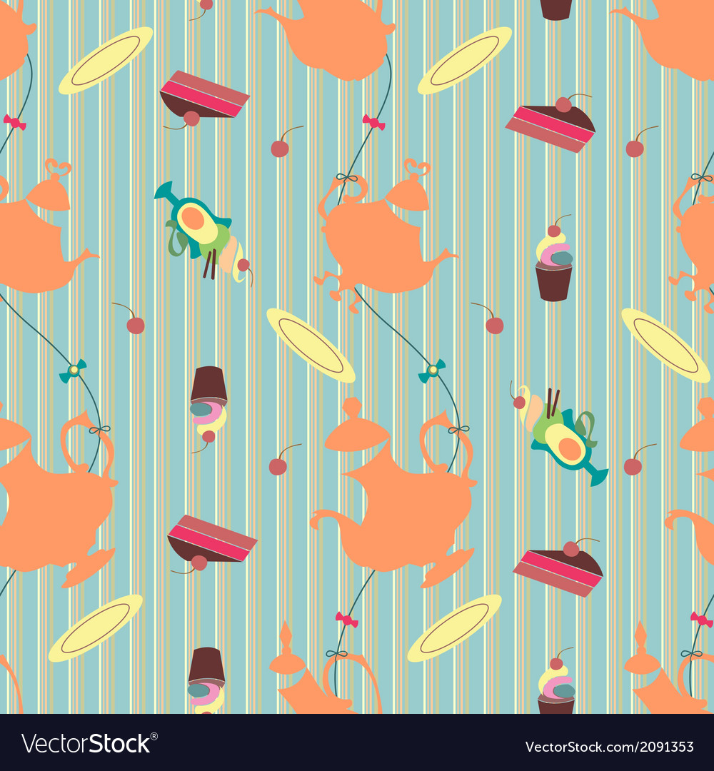 Seamless teatime vector | Price: 1 Credit (USD $1)