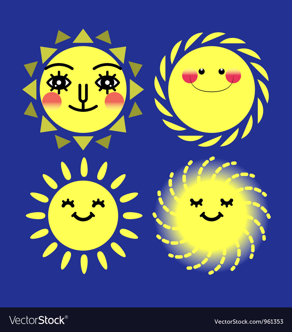 Sun sets vector | Price: 1 Credit (USD $1)