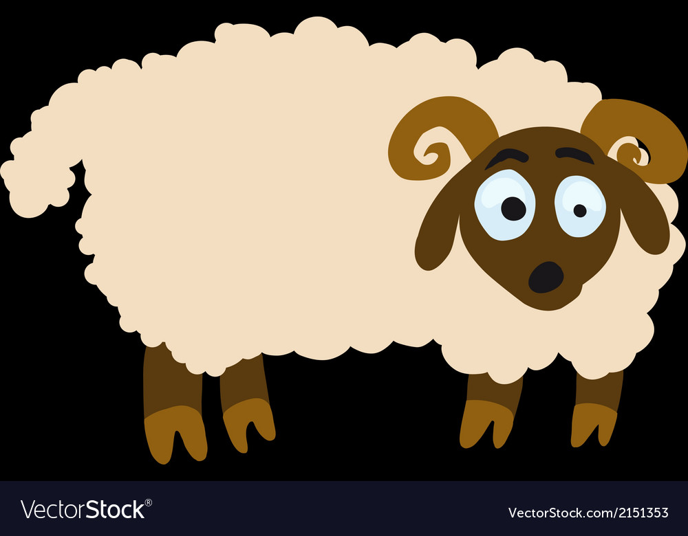 Surprised lamb vector | Price: 1 Credit (USD $1)