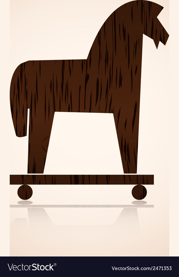 Wood trojan horse eps10 vector | Price: 1 Credit (USD $1)