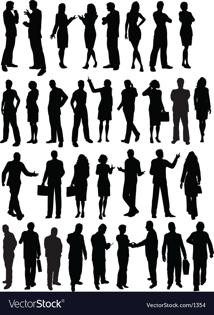 Business people outlines vector | Price: 3 Credit (USD $3)