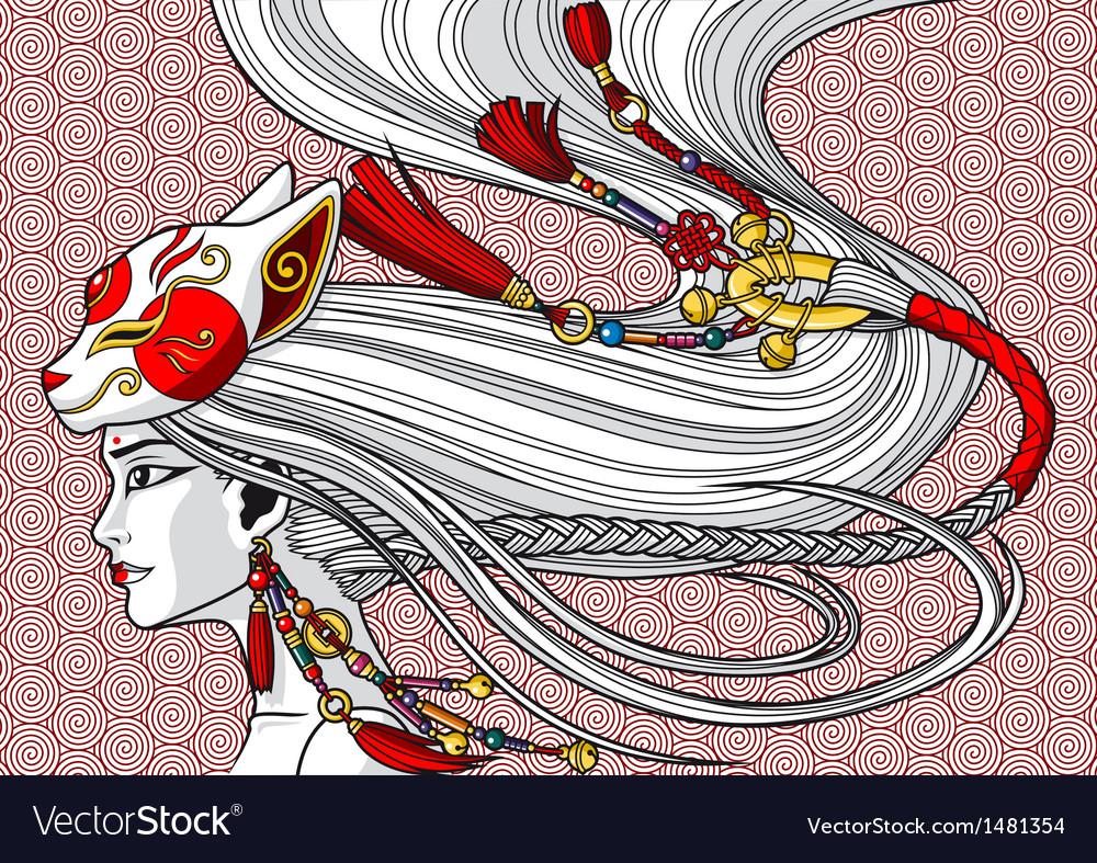 China girl vector   Price: 3 Credit (USD $3)