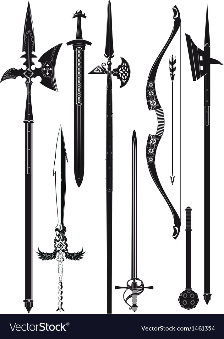 Collection of medieval weapons vector | Price: 1 Credit (USD $1)
