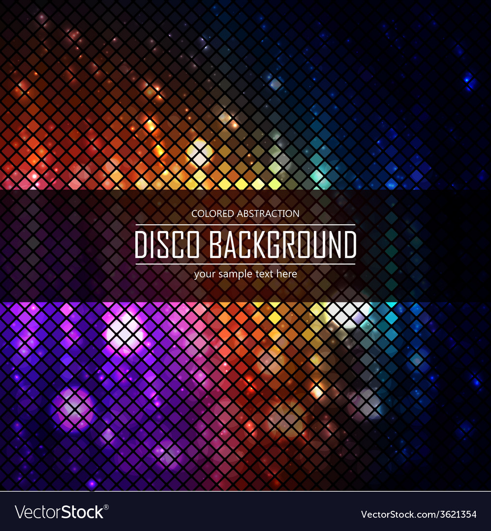 Colorful disco lighten background magic effect vector | Price: 1 Credit (USD $1)