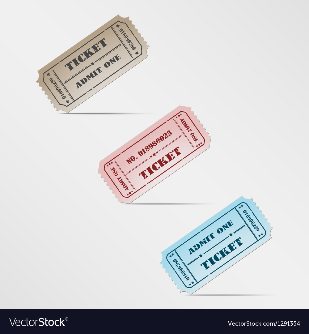 Colorful vintage ticket vector | Price: 1 Credit (USD $1)
