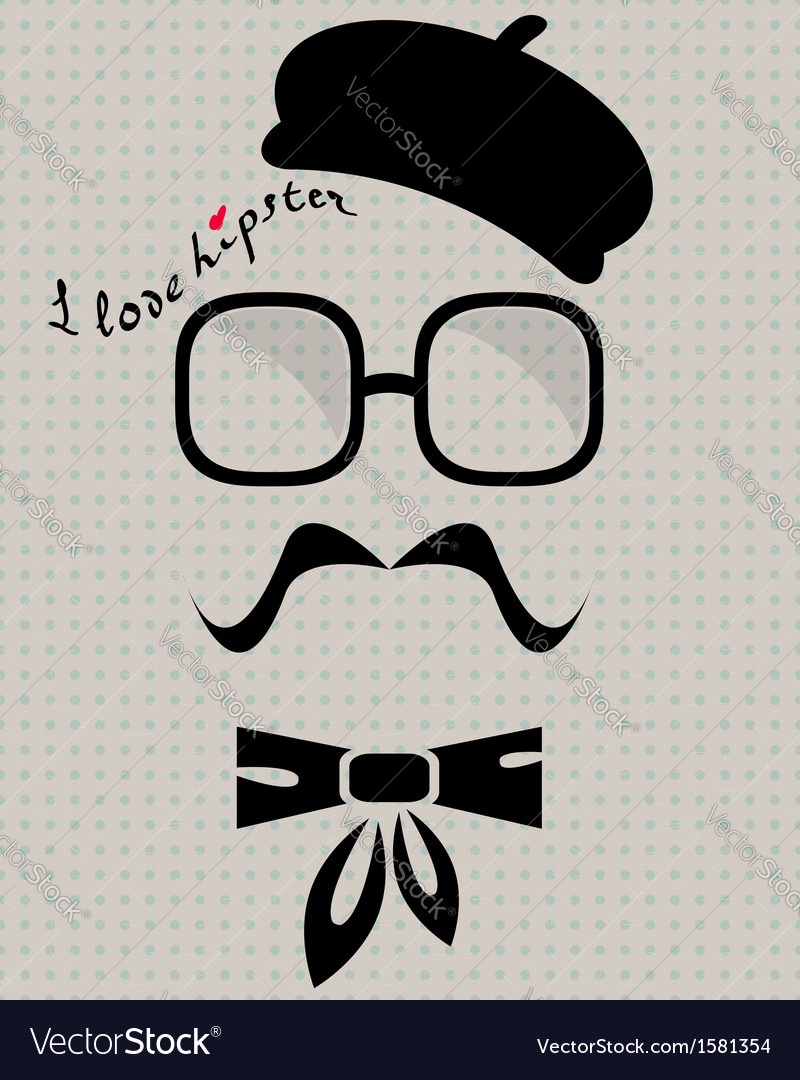 Hipster in beret vector | Price: 1 Credit (USD $1)