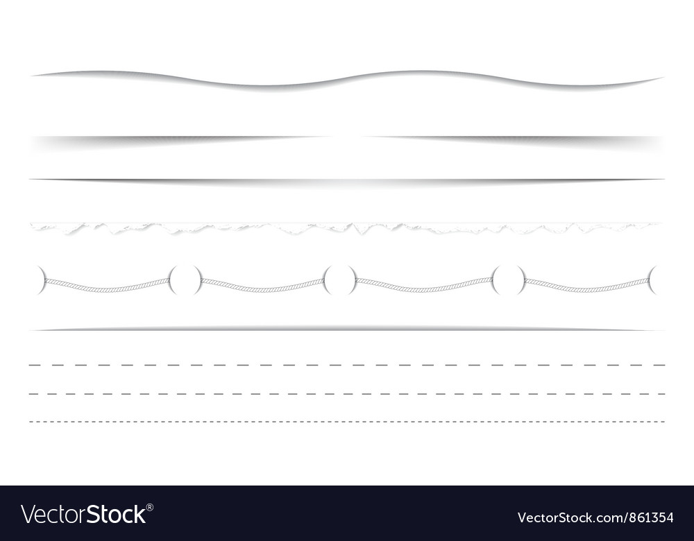 Horizontal dividers set vector | Price: 1 Credit (USD $1)