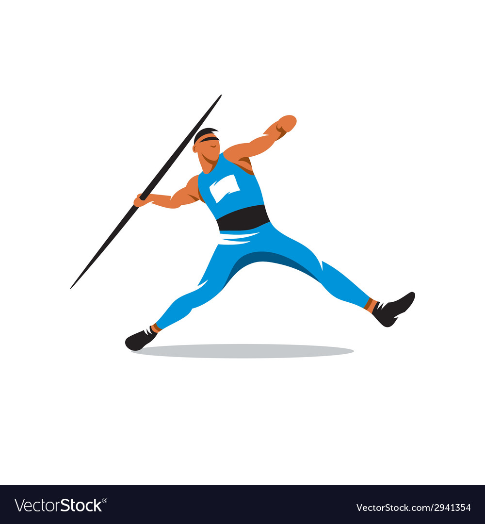 Javelin thrower sign vector | Price: 1 Credit (USD $1)