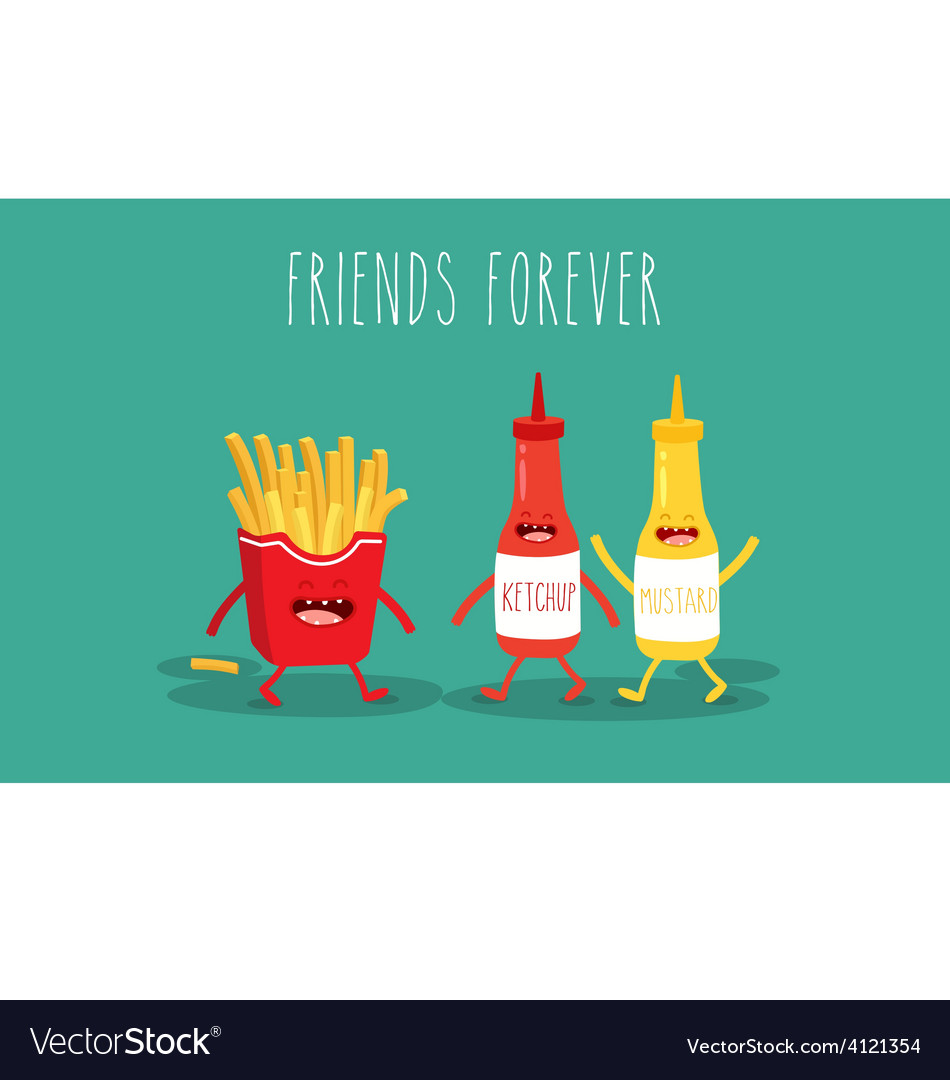 Mustard and ketchup vector | Price: 1 Credit (USD $1)