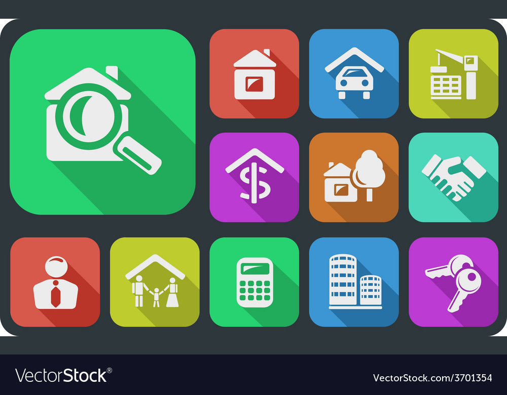 Real estate buttons vector   Price: 1 Credit (USD $1)