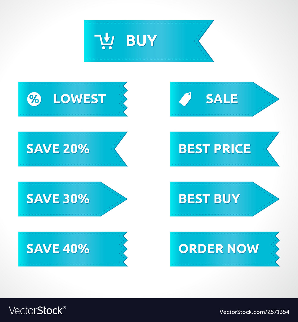Ribbon sale color blue vector | Price: 1 Credit (USD $1)