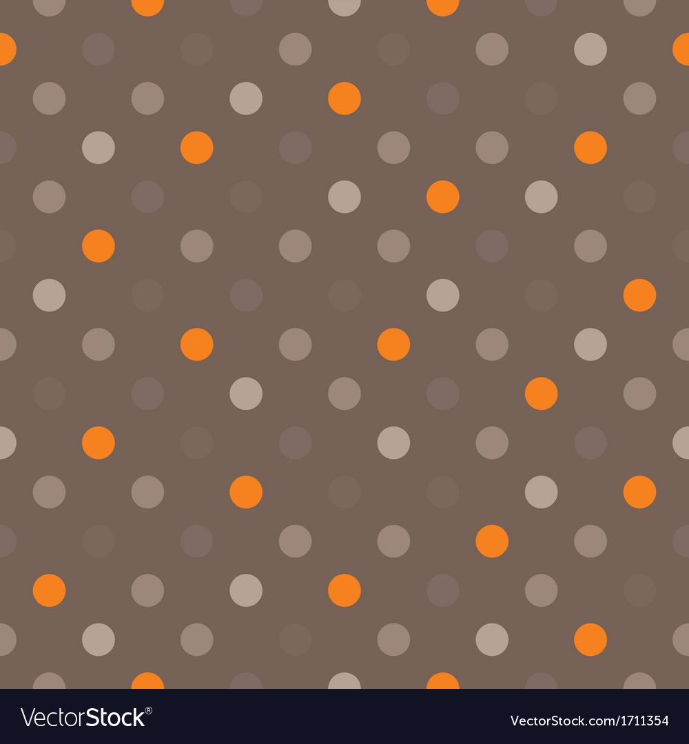 Seamless background with dark polka dots on brown vector | Price: 1 Credit (USD $1)