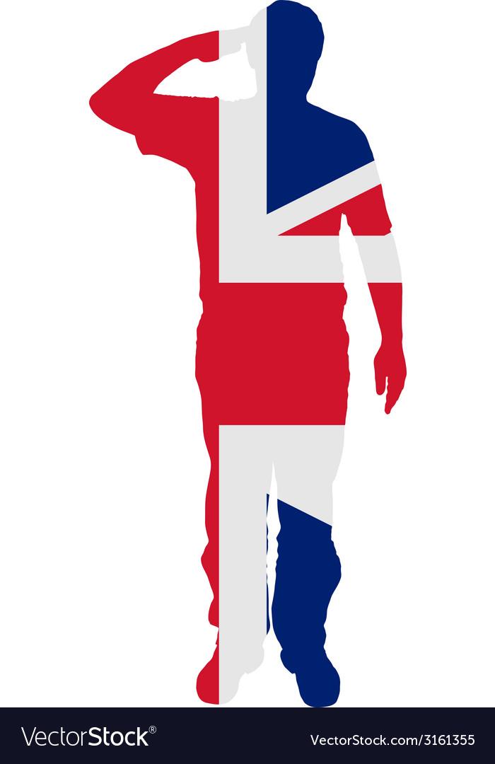 British salute vector | Price: 1 Credit (USD $1)